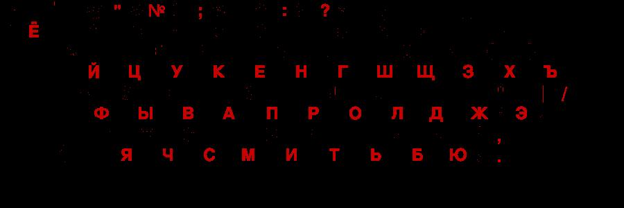 фото русско-английской клавиатуры