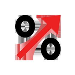 Расчет изменения показателя в процентах